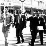 市内パレードする都城青年会議所チャーターメンバー